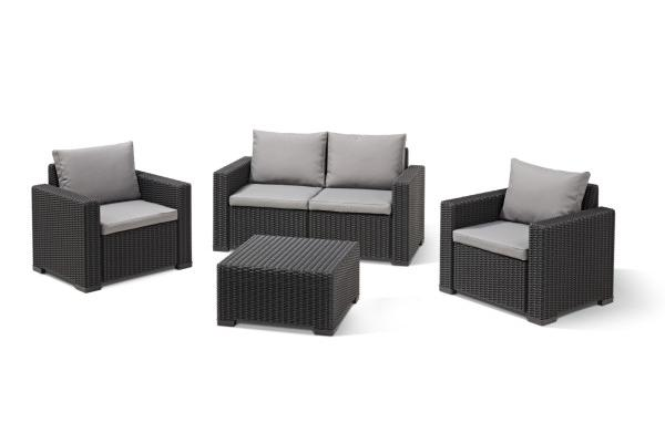 California Loungeset Graphit Zweisitzer-Sofa
