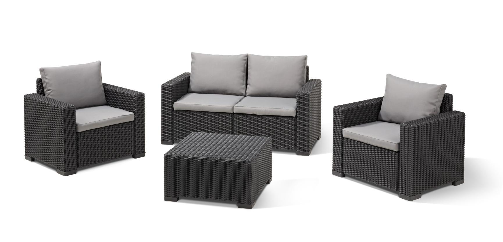 Lounge Sets allibert california lounge set graphite two seater allibert