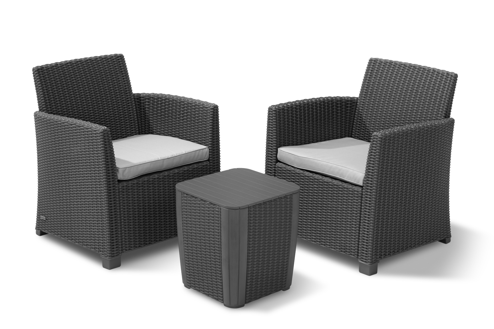 allibert corona duo set graphite allibert. Black Bedroom Furniture Sets. Home Design Ideas