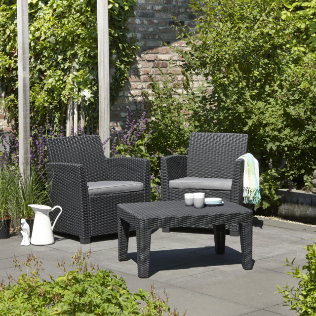 Allibert Corona ensemble de balcon graphite