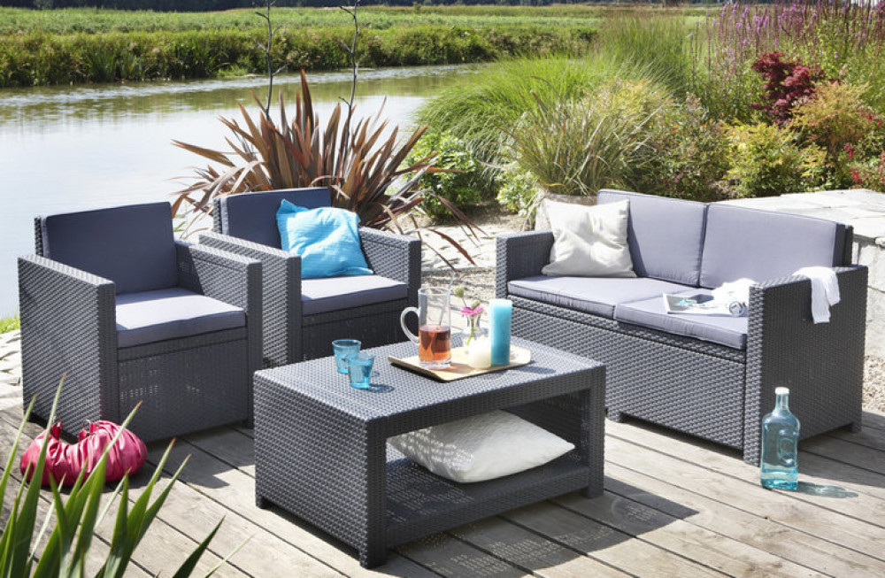 Beautiful salon de jardin allibert lounge set prix for Salon de jardin prix