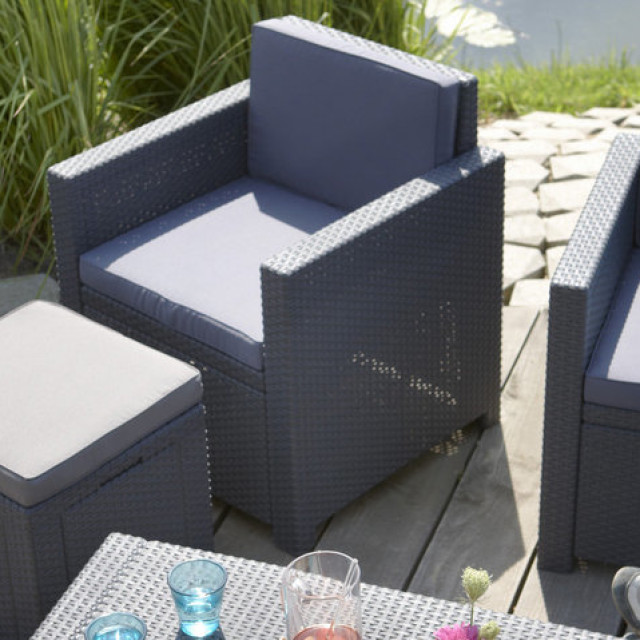 Allibert Monaco Lounge Set Graphit