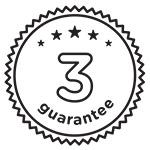 3 year warranty UITGESNEDEN