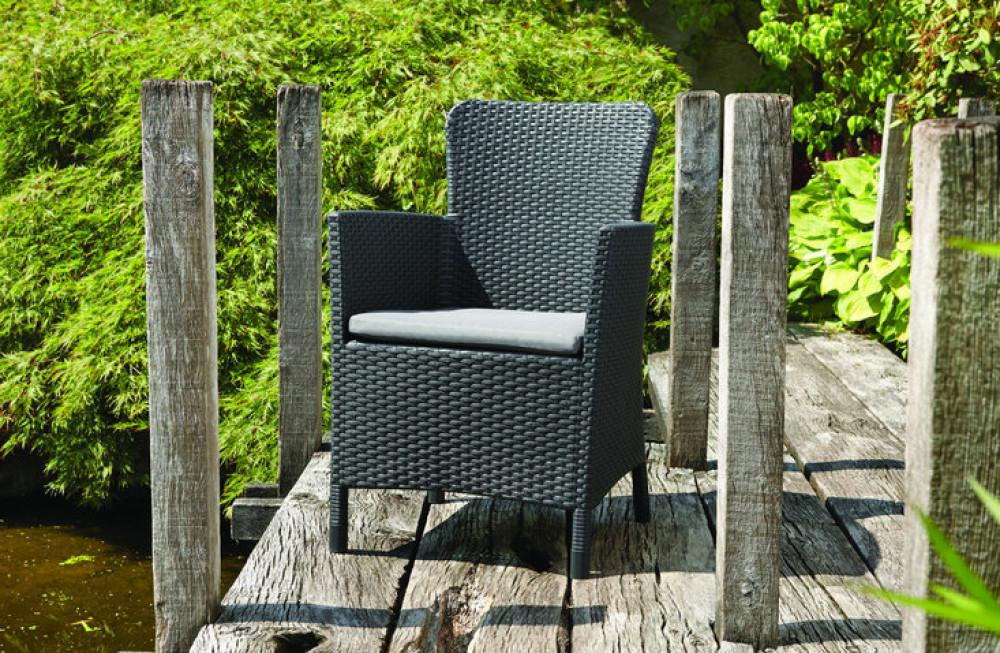 allibert miami fauteuil de jardin graphite allibert. Black Bedroom Furniture Sets. Home Design Ideas