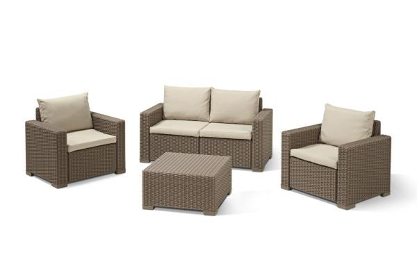 California Lounge Set Cappuccino Zweisitzer-Sofa