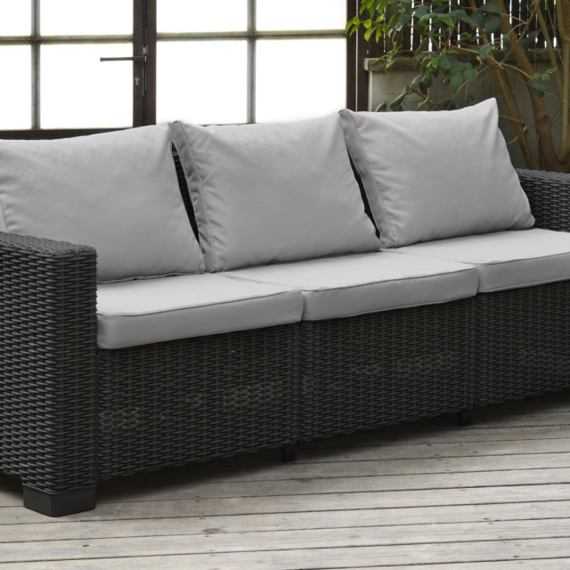 Allibert California Loungeset Graphit Zweisitzer-Sofa
