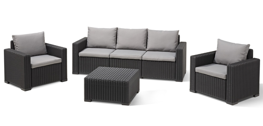 Allibert California Lounge Set Graphite Two Seater Allibert