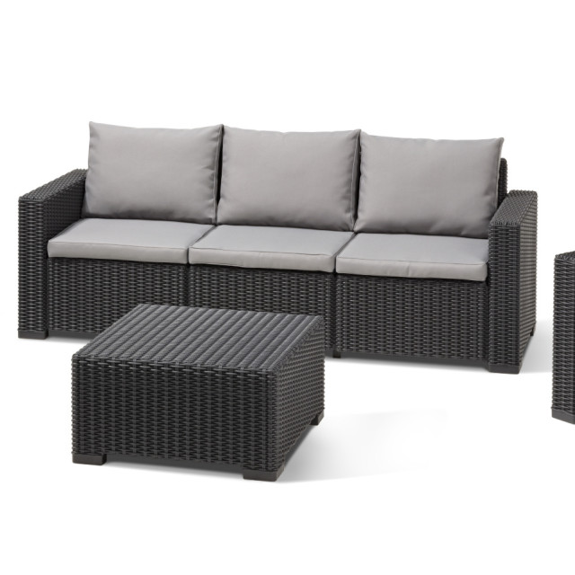 allibert california lounge set graphite three seater. Black Bedroom Furniture Sets. Home Design Ideas
