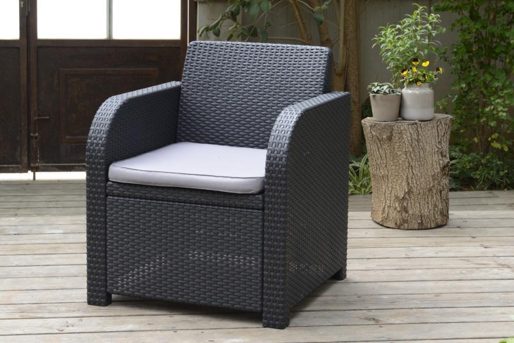 allibert carolina loungeset graphit allibert. Black Bedroom Furniture Sets. Home Design Ideas