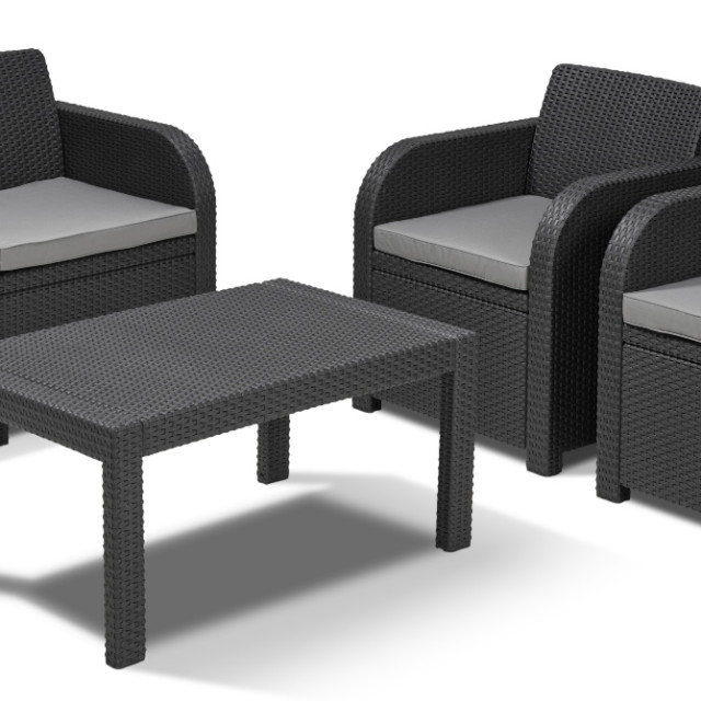 Allibert Carolina loungeset grafiet