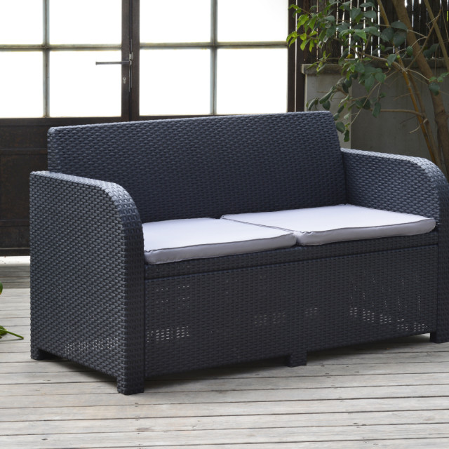 Allibert Modena lounge set graphite