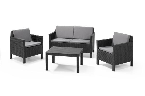 Chicago Lounge Set Graphit Zweisitzer-Sofa