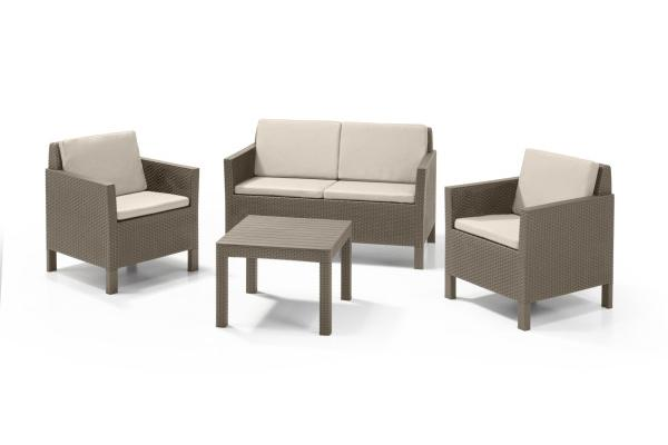 Chicago lounge set cappuccino two seater