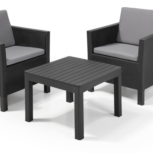Allibert Chicago ensemble de balcon, coloris graphite