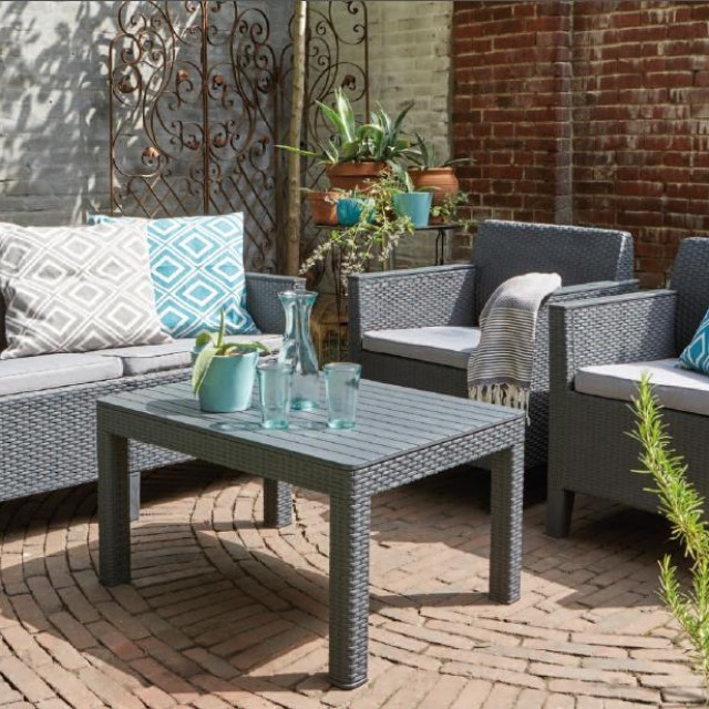Allibert Chicago lounge set Graphite two seater
