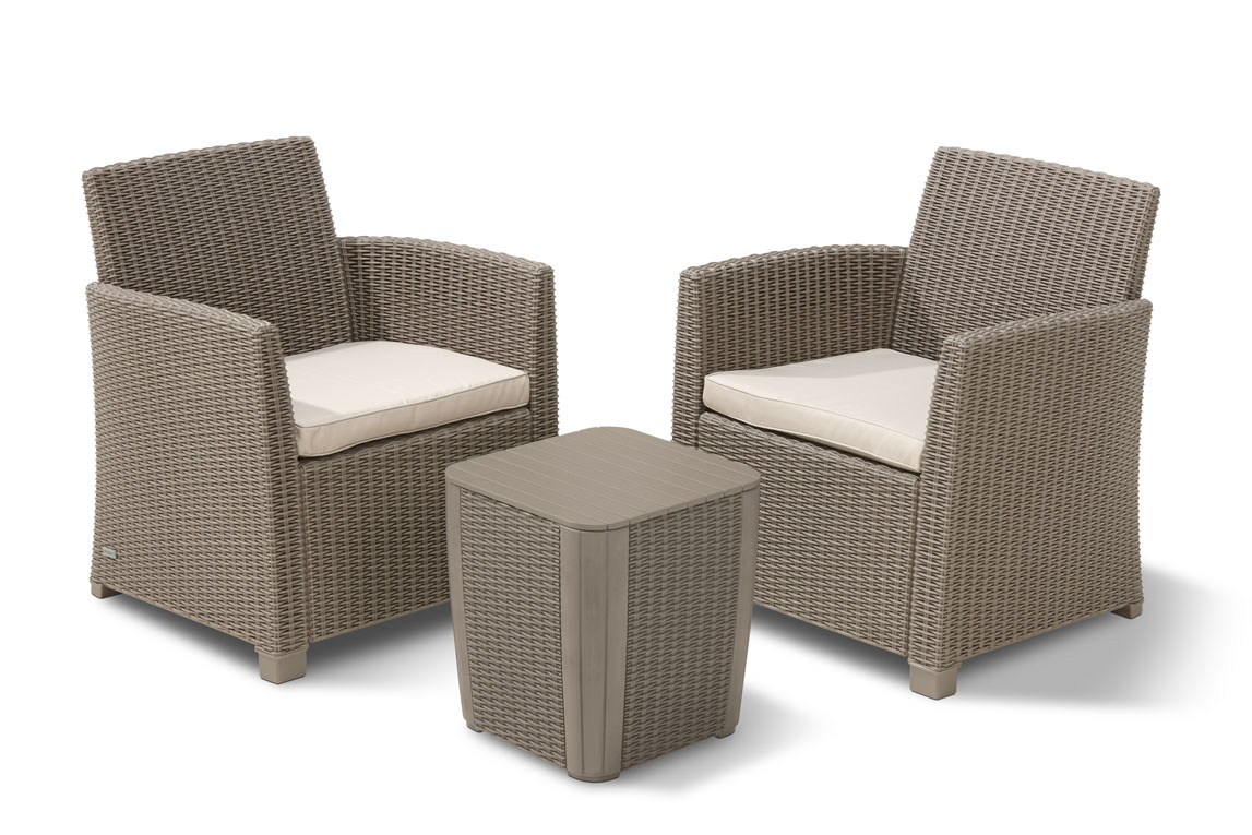 Allibert Corona Cappuccino — Salon de Jardin 4 places - Aspect ...