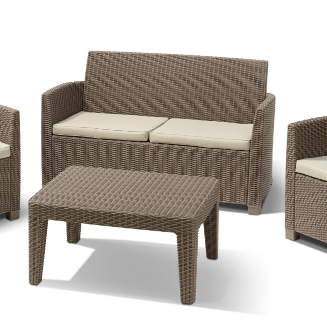 Allibert Corona lounge set cappuccino