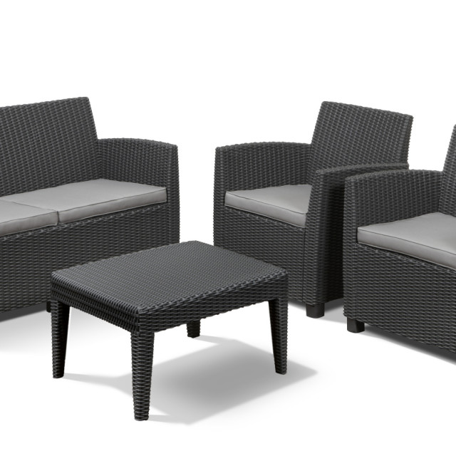 Allibert Corona lounge set graphite