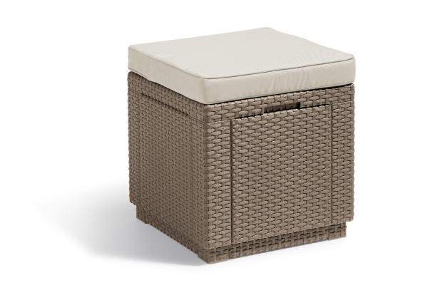 Cube repose-pieds cappuccino