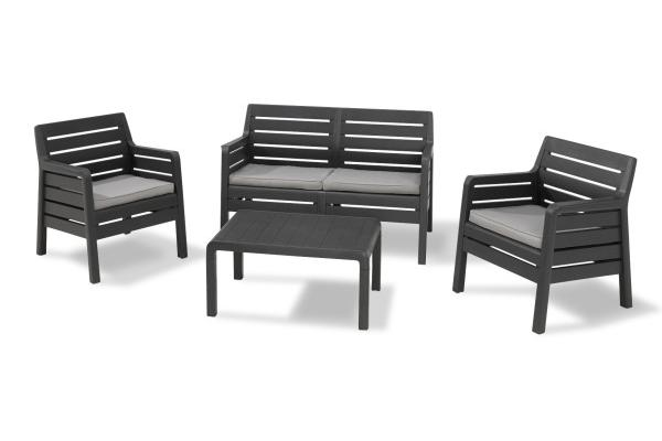Dana lounge set graphite two seater