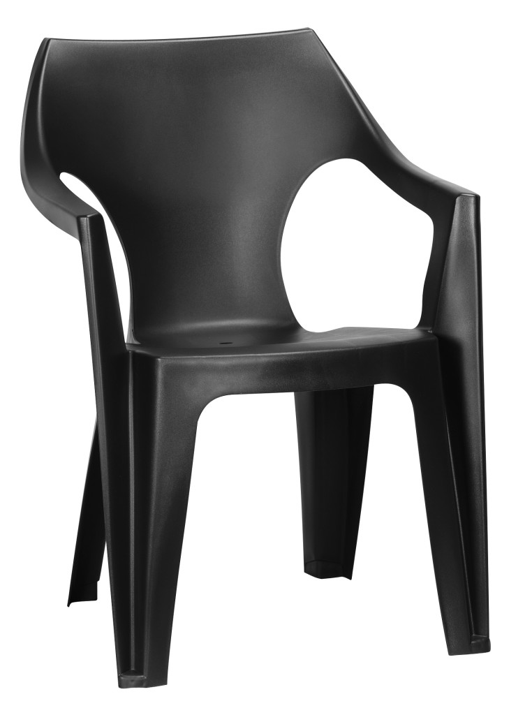 Allibert dante chaise graphite allibert for Tuinstoelen plastic