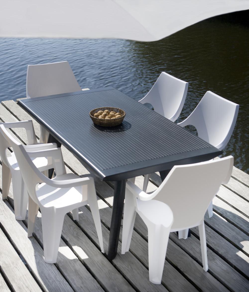 ALLIBERT Allibert Dante de table graphite jardin v8mON0wn