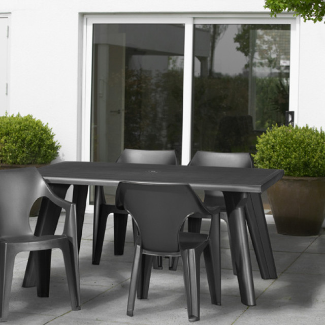 Allibert Dante table de jardin graphite