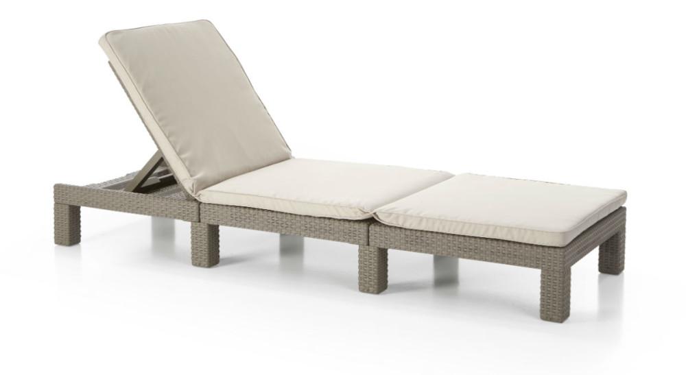 allibert daytona sunlounger cappuccino allibert. Black Bedroom Furniture Sets. Home Design Ideas