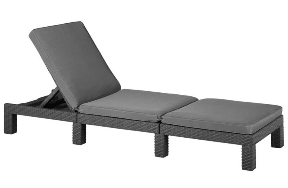 allibert daytona sunlounger graphite allibert. Black Bedroom Furniture Sets. Home Design Ideas