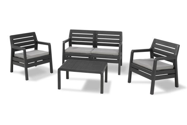 Delano lounge set graphite two seater