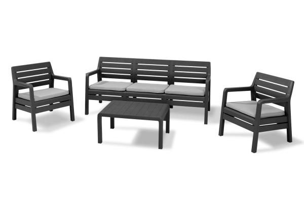 Delano Lounge Set Graphit Dreisitzer-Sofa
