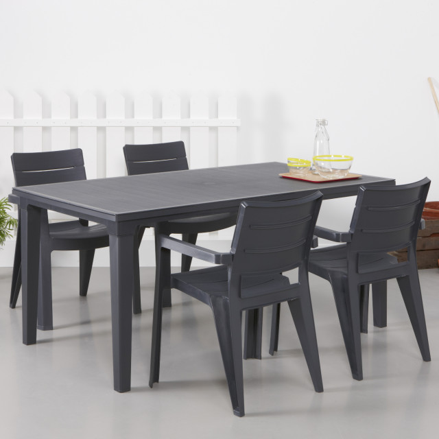 Allibert Futura Table De Jardin Graphite Allibert