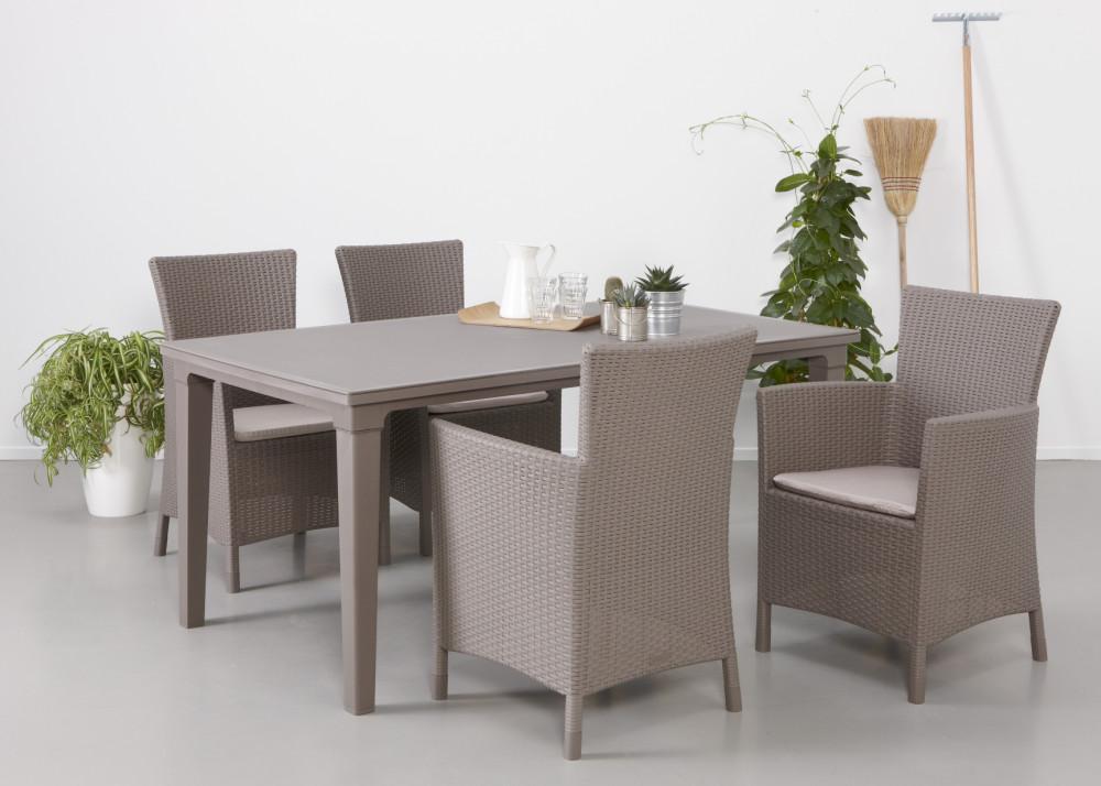 ALLIBERT Iowa chaise de jardin cappuccino - Allibert