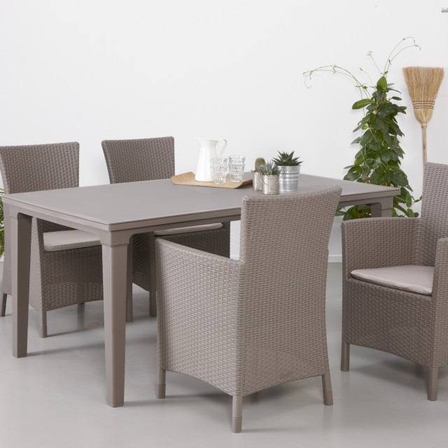 Allibert Futura garden table cappuccino
