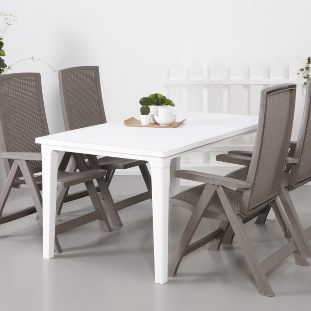 Allibert Futura table de jardin blanche