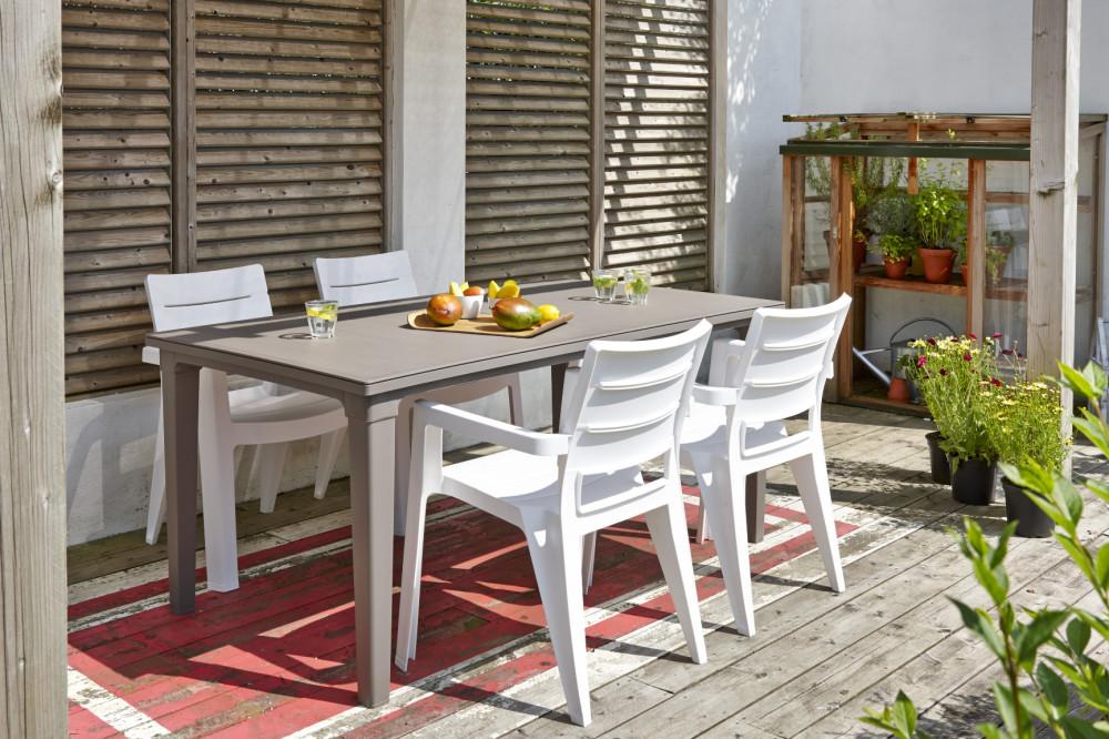 ALLIBERT Ibiza Chaise blanche - Allibert