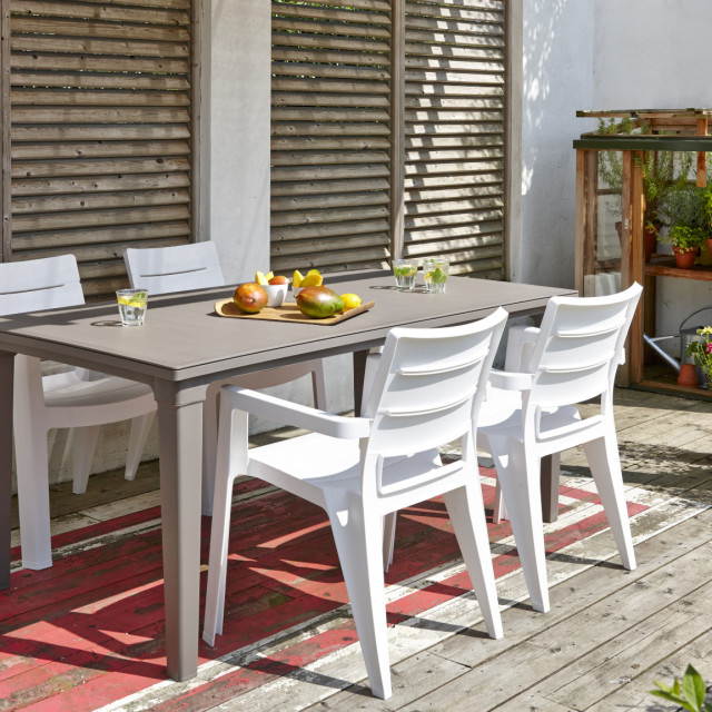 Allibert Futura table de jardin cappuccino