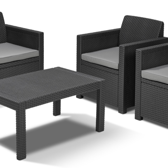 Allibert Merano lounge set graphite