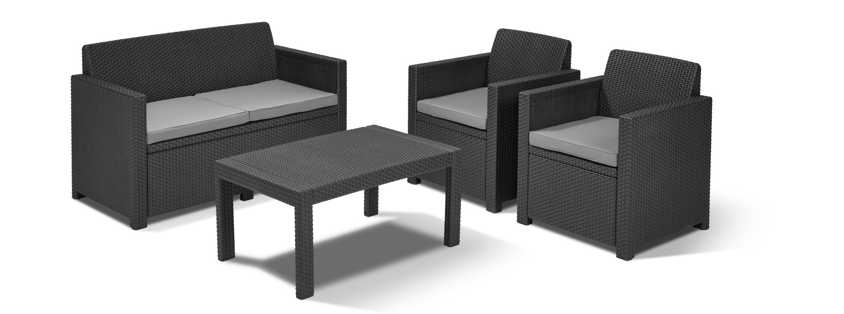 allibert merano lounge set graphite allibert. Black Bedroom Furniture Sets. Home Design Ideas
