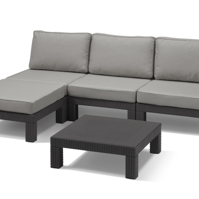 Allibert Nevada lounge set graphite