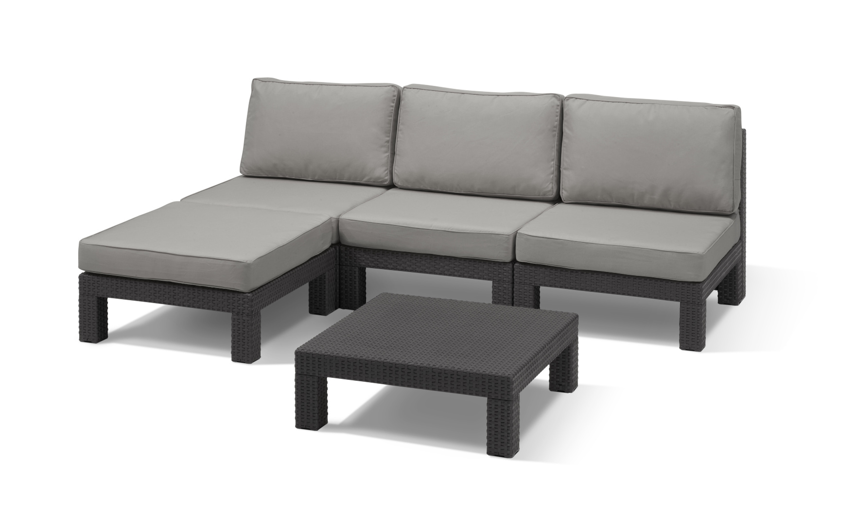 ALLIBERT Nevada lounge set graphite - Allibert