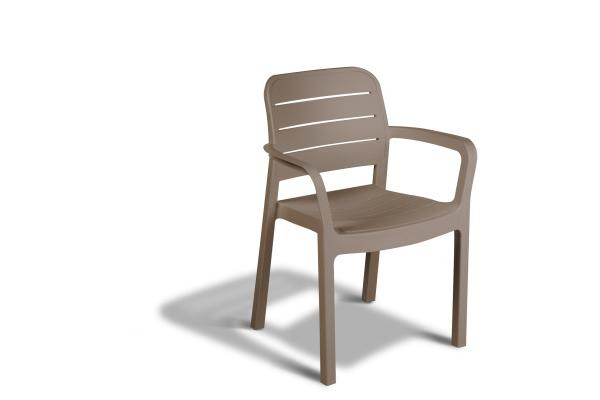 Tisara stackable chair cappuccino