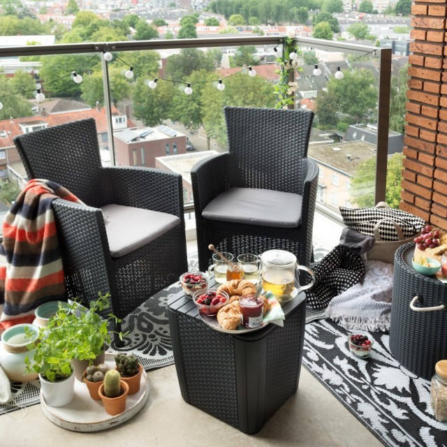 Allibert Iowa ensemble de balcon graphite