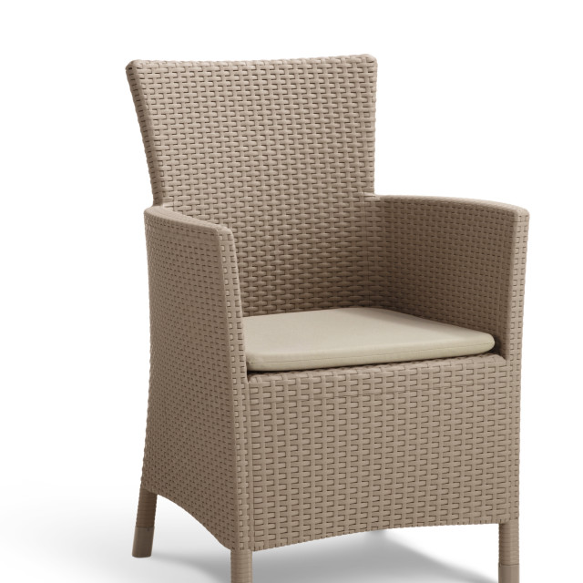 Allibert Iowa garden chair cappuccino