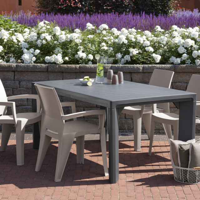 Allibert Lago table de jardin graphite