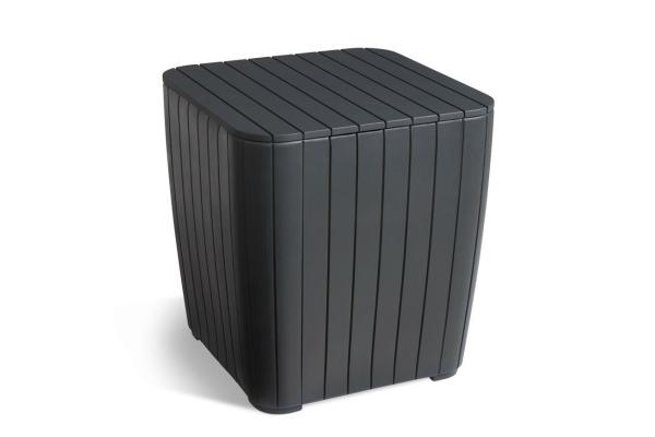 Luzon side table graphite rezolith