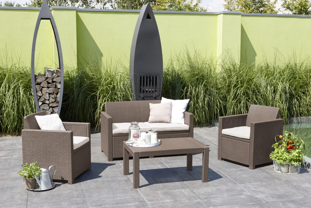 ALLIBERT Merano lounge set cappuccino - Allibert