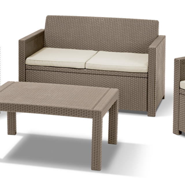 Allibert Merano Lounge Set Cappuccino