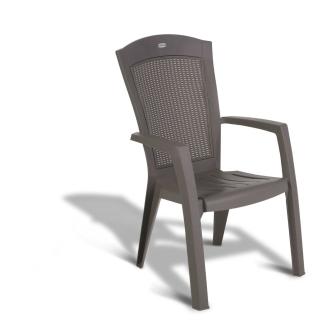 Allibert Minnesota stacking chair cappuccino