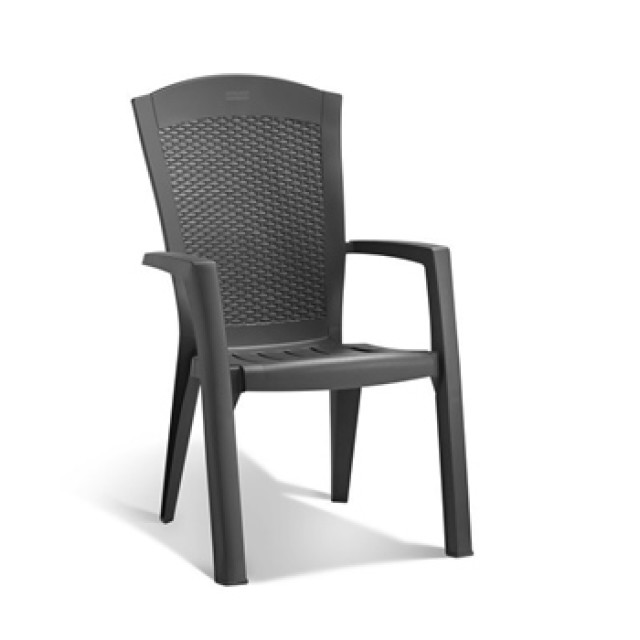 Allibert Minnesota stacking chair graphite